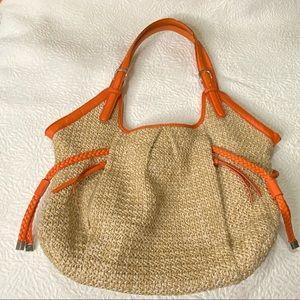 Apt 9 Cream/Orange Tweed Handbag